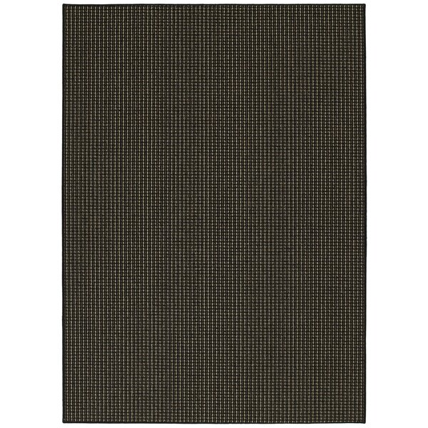 Black Berber Colorations Area Rug by Garland Rug