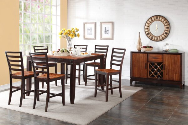 Lannon Contemporary Solid Wood Dining Table by Alcott Hill