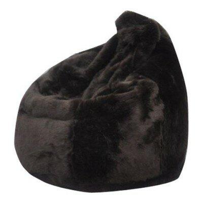 Posh Faux Fur Bean Bag Chair by Three Posts