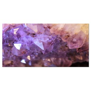 'Purple White Natural Amethyst Geode' Photographic Print on Wrapped Canvas by Design Art