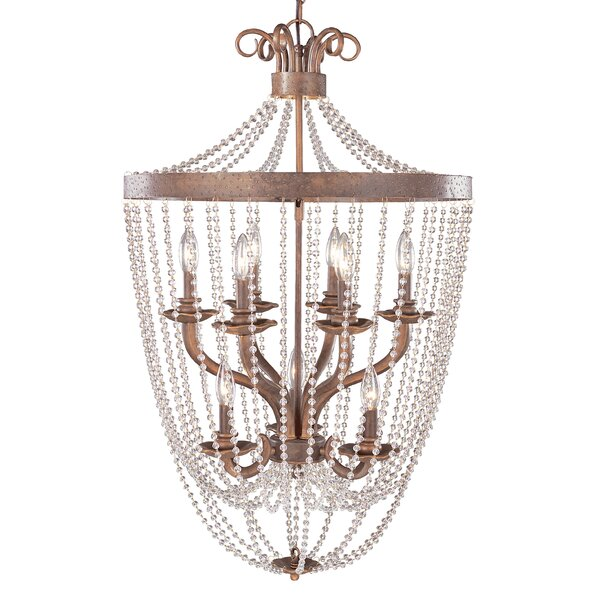 Grace 9 - Light Lantern Tiered Chandelier By Classic Lighting