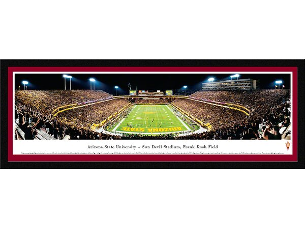 NCAA Arizona State University - End Zone by James Blakeway Framed Photographic Print by Blakeway Worldwide Panoramas, Inc