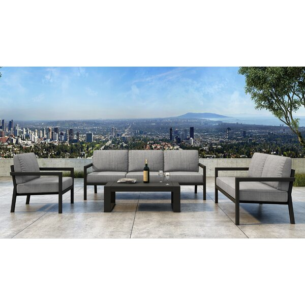 Iliana 5 Piece Deep Seating Group with Sunbrella Cushions (Set of 5) by 17 Stories