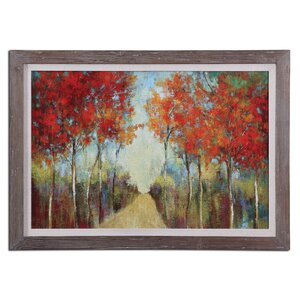 'Nature's Walk Landscape' Framed Painting by Darby Home Co