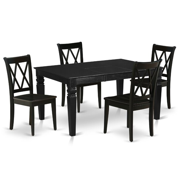 Levasy 5 Piece Extendable Solid Wood Dining Set by Alcott Hill Alcott Hill
