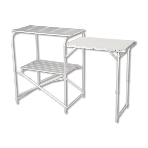 Lucero Folding  Metal Camping Table by Freeport Park