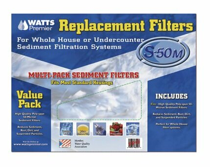 5 Piece Whole House Replacement Filters Set by Watts Premier