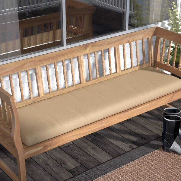 Indoor/Outdoor Bench Cushion by Andover Mills