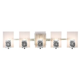 Affordable Price Polar Recycled 5-Light Vanity Light By Varaluz