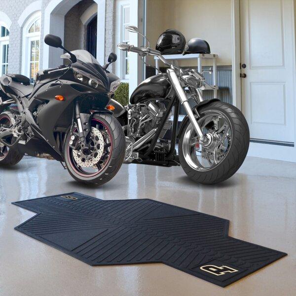 NCAA Purdue University Motorcycle Garage Flooring Roll in Black by FANMATS