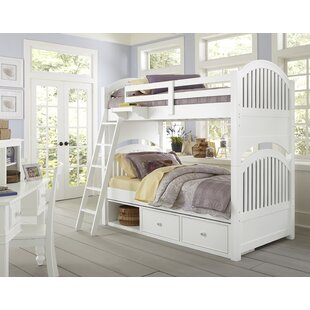 Reviews Javin Twin Over Twin Bunk Bed with Storage ByHarriet Bee