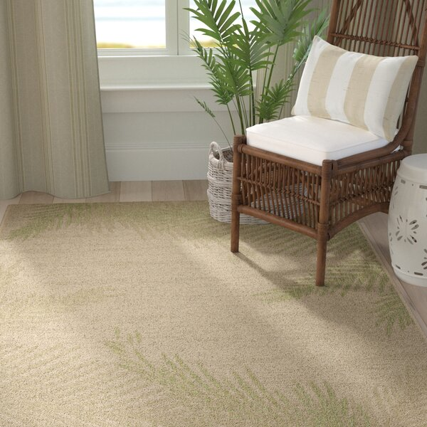 Weilers Verdant Palms Beige/Green Indoor/Outdoor Area Rug by Bay Isle Home