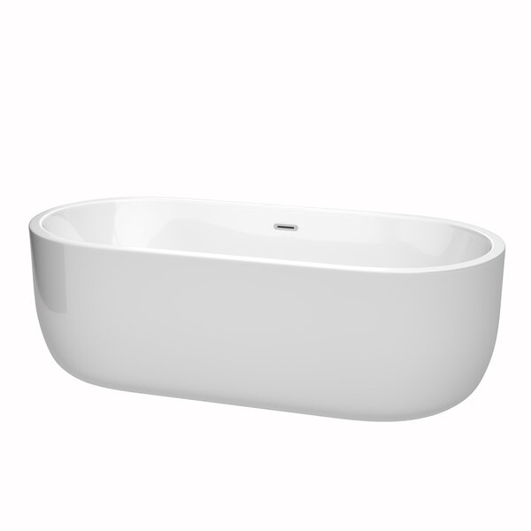 Juliette 71 x 31.5 Freestanding Soaking Bathtub by Wyndham Collection