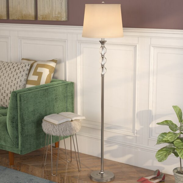 Shipton Crystal and Metal 61.5 Floor Lamp by Willa Arlo Interiors