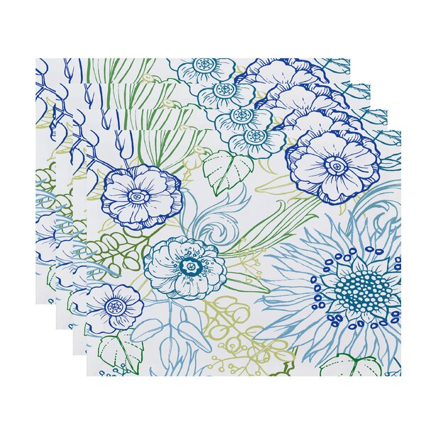 Willems Zentanle Floral Print Placemat (Set of 4) by Latitude Run