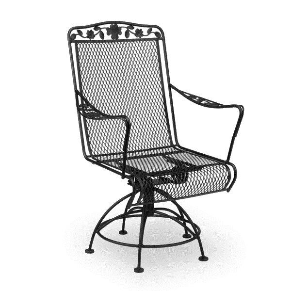 Vaillancourt Swivel Patio Dining Chair by Fleur De Lis Living