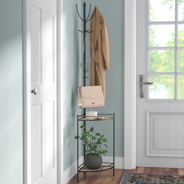 Corner Metal/Wood Coat Rack by Trent Austin Design