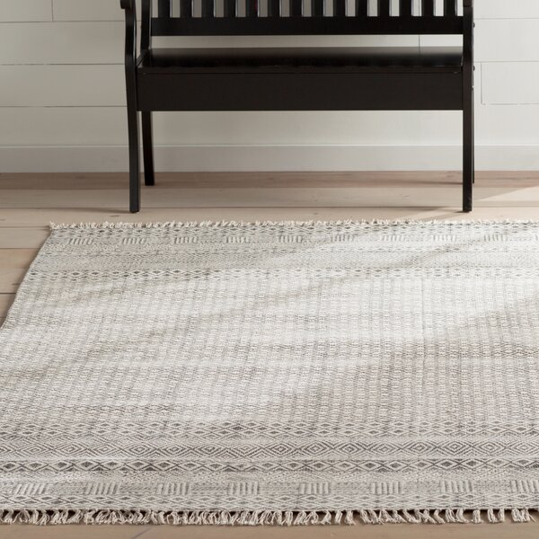 Oldtown Hand-Woven Gray Area Rug by Laurel Foundry Modern Farmhouse