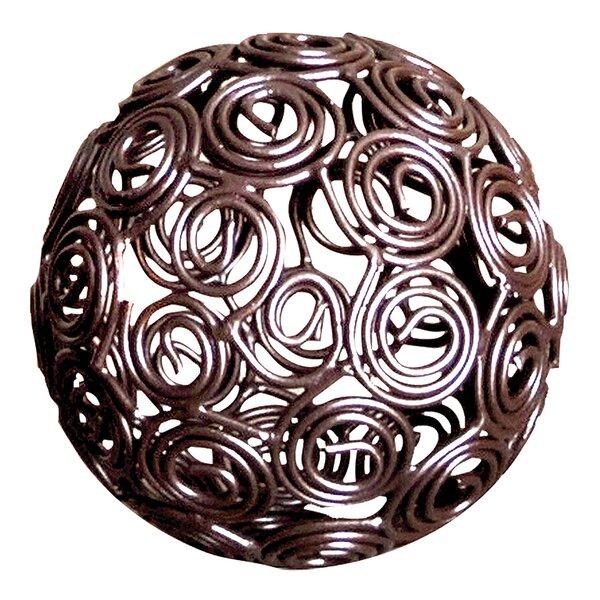 Curls Deco Rustic Sphere Sculpture by Ebern Designs