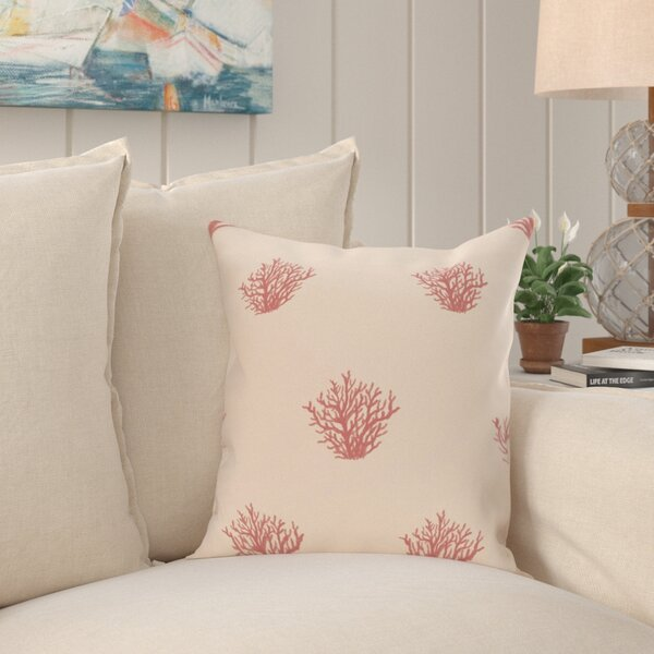 Brea Coastal Print Outdoor Pillow by Beachcrest Home