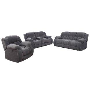 Ermete 3 Piece Reclining Living Room Set by Red Barrel Studio®
