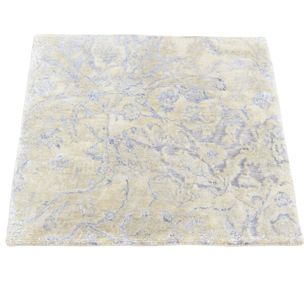 One-of-a-Kind Vandeusen Broken Hand-Knotted Silk Area Rug by Ophelia & Co.