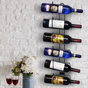Rowan 6 Bottle Wall Mounted Wine Rack by Andover Mills