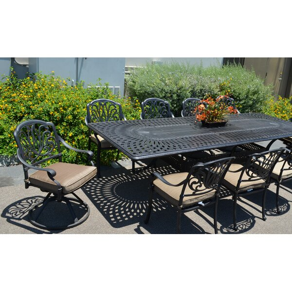 Kristy 10 Piece Dining Set with Cushions by Darby Home Co