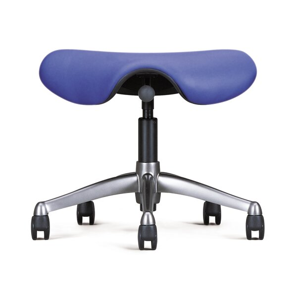 Height Adjustable Saddle Seat with Casters by Humanscale