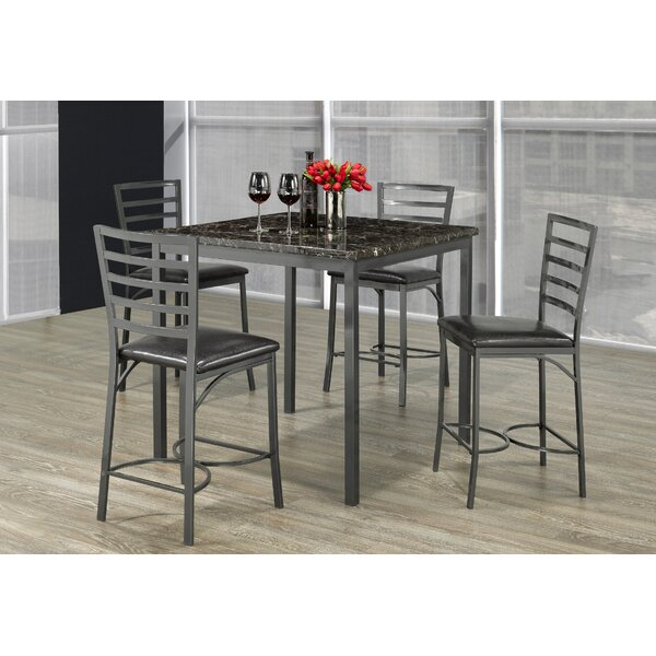 Adderley Marble 5 Piece Dining Set by Latitude Run