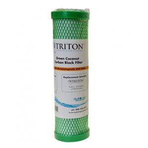 Triton Replacement Green Coconut Carbon Block Filter by Hydrologic