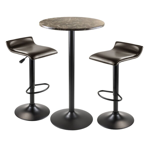 Varnum 3 Piece Pub Table Set by Red Barrel Studio
