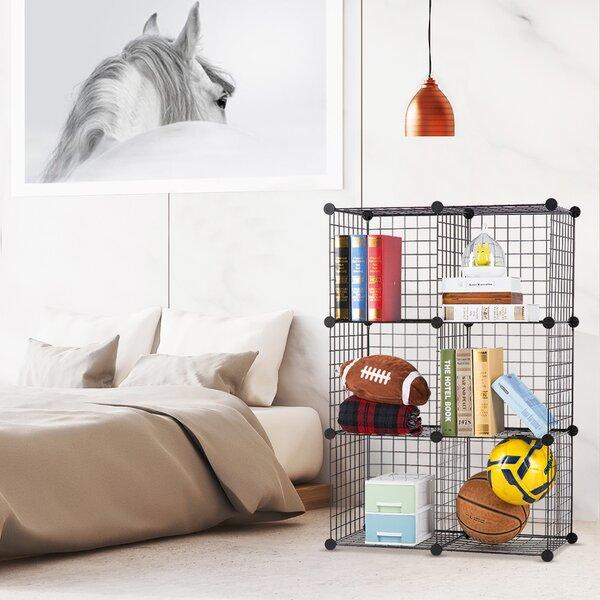 Fletcher 6 Cube Corner Unit Bookcase by Rebrilliant