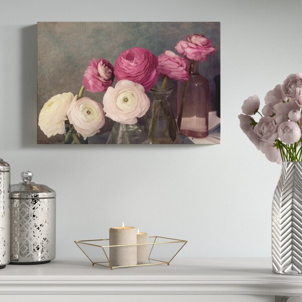 Baroque Ranunculus Photographic Print on Wrapped Canvas by House of Hampton