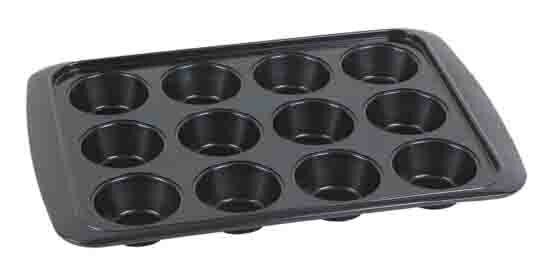 12-Cup Non-Stick Muffin Pan by Home Basics