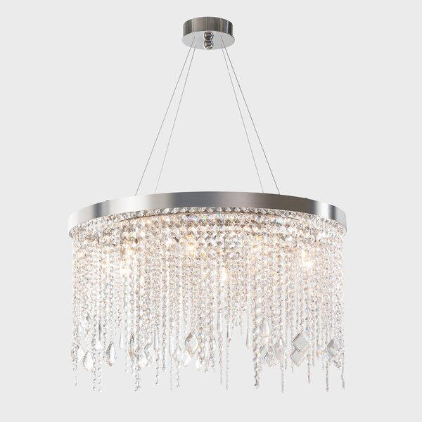 Delphine 10 - Light Unique / Statement Drum Chandelier by Everly Quinn Everly Quinn