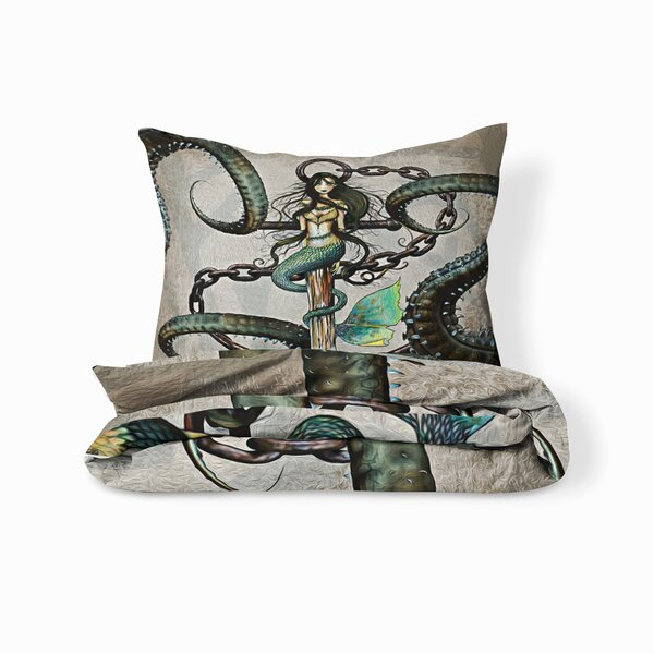 Alek Steampunk Mermaid and Anchor Duvet Cover Set