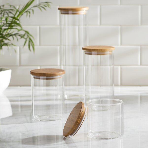 4 Piece Storage Jar Set by Mint Pantry