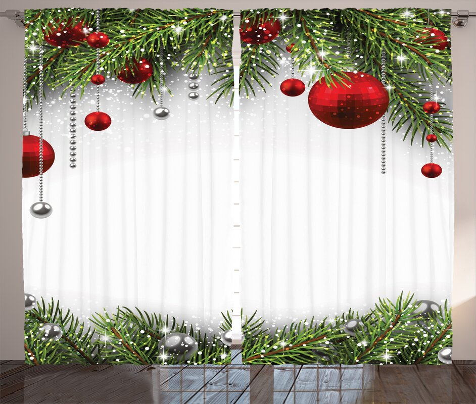 The Holiday Aisle Christmas Decorations Noel Backdrop with Fir ...