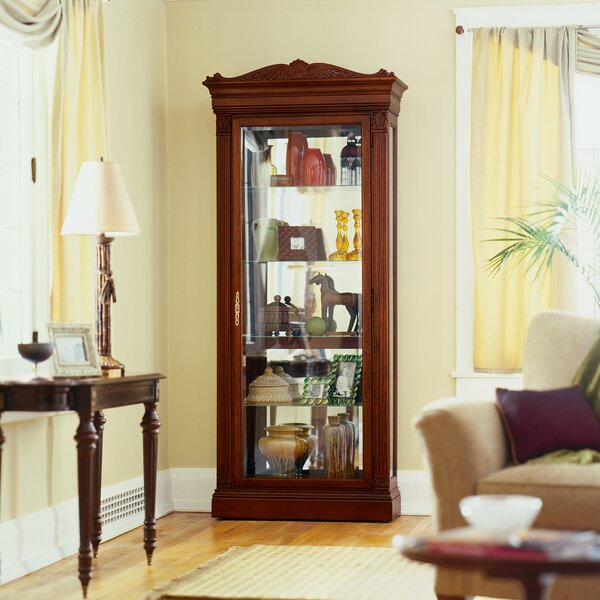 Brickhouse Embassy Curio Cabinet by Darby Home Co