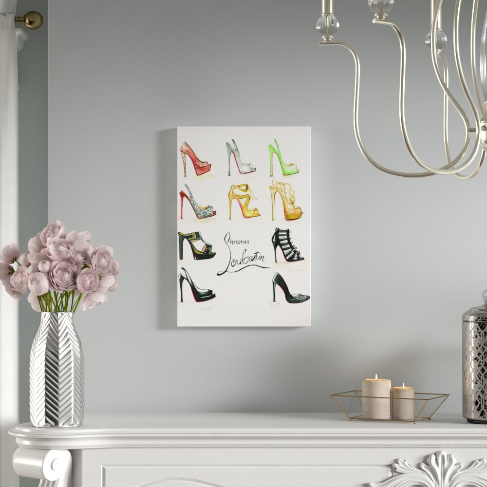 8d80fbd17bc9 House of Hampton Christian Louboutin Collection Painting Print on Wrapped  Canvas