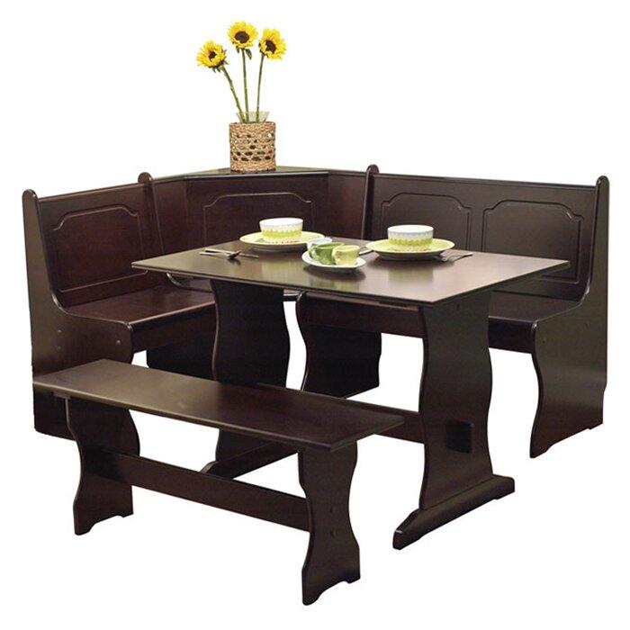 Marvelous Foristell 3 Piece Breakfast Nook Dining Set Beatyapartments Chair Design Images Beatyapartmentscom