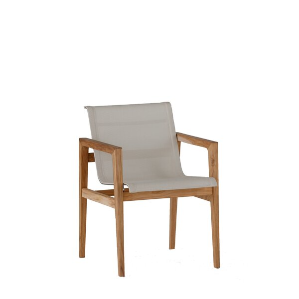 Coast Teak Patio Arm Dining Chair by Summer Classics