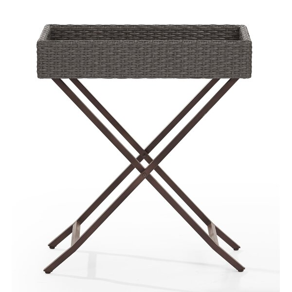 Brandy Tray Folding Wicker Bistro Table by Mistana
