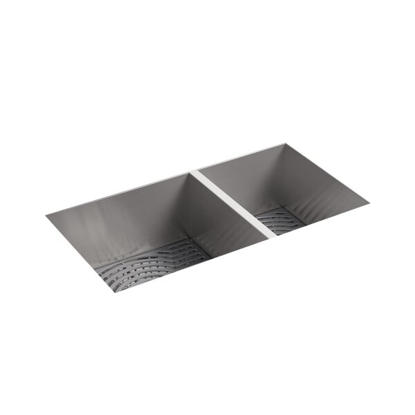 Ludington Under-Mount Offset (Large/Medium) Kitchen Sink by Sterling by Kohler