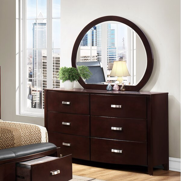 Rushmere 6 Drawer Double Dresser with Mirror by Latitude Run