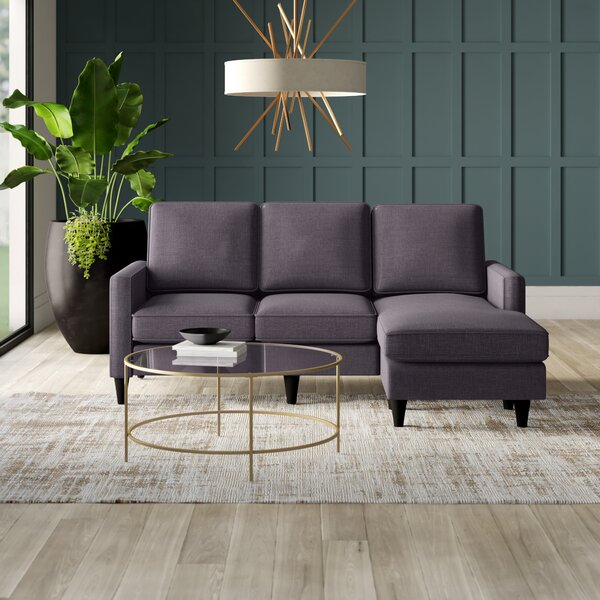 Modern Style Botkin Right Hand Facing Sectional by Mercury Row by Mercury Row
