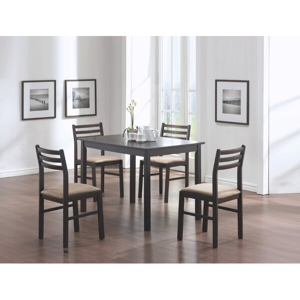 5 Piece Dining Set in Cappuccino by Monarch Specialties Inc. Monarch Specialties Inc.