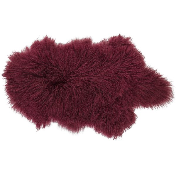 Willenhall Sheepskin Red Area Rug by House of Hampton