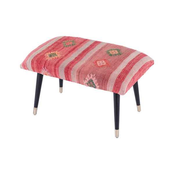 Bosphorus Kilim Cover Ottoman by Pasargad Pasargad